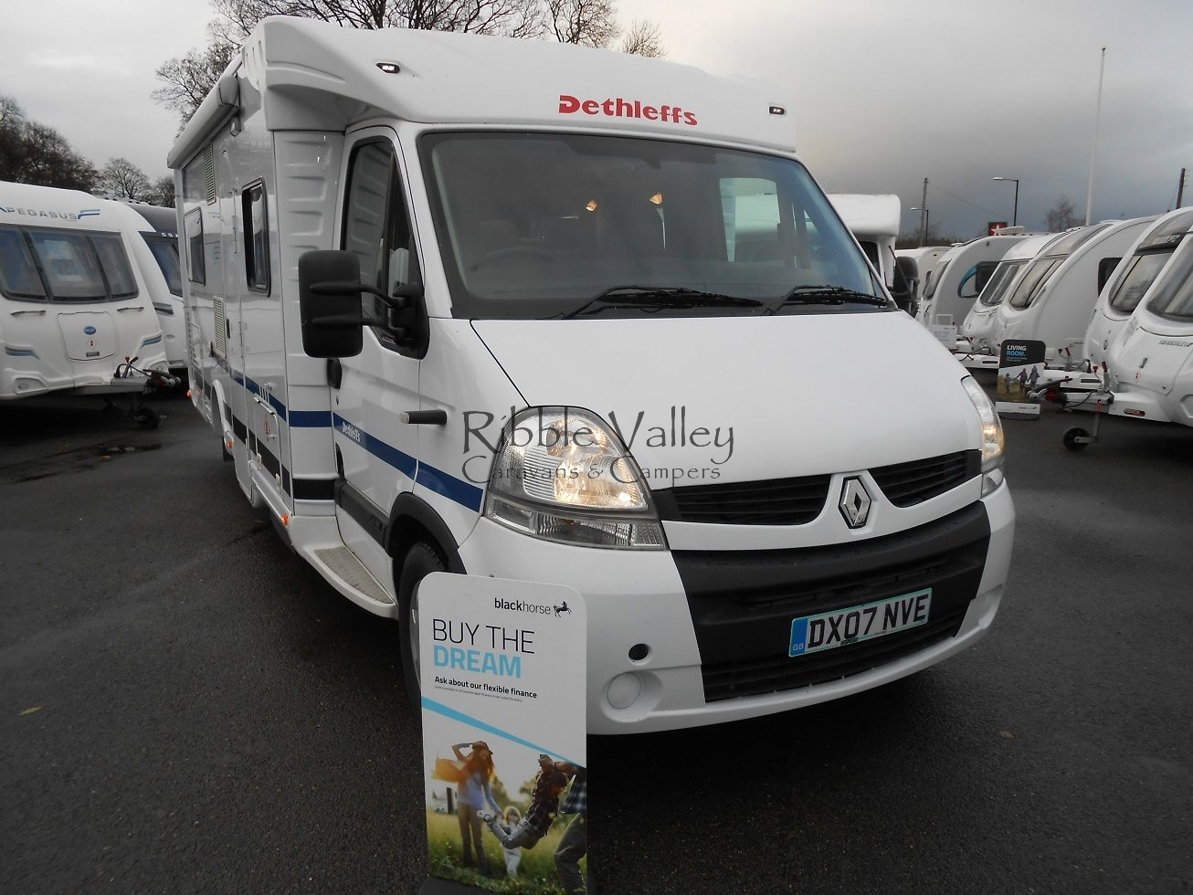 Here we have a 2007 Dethleffs Esprit RT 6844 Low Profile Motorhome in outstanding condition. Only 1 owner from new with full main dealer service history. The layout includes captains chairs at the front, dinette area which assembles into a bedroom. Spacious kitchen fitted with integrated appliances including a large fridge freezer. Fixed french double bed with corner bathroom including a cassette toilet, separate shower and hand wash basin. This vehicle includes: Rear seatbelts Air con Cruise control Windout awning Bike rack with roof ladder. This vehicle will come on the road with 1 years warranty at the advertised price. Finance packages are available subject to status. For more details please call 07742972828. Open Saturday and Sunday, please call before making a long journey.